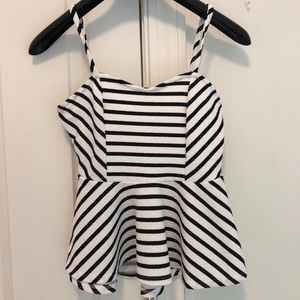 Painted Threads striped peplum tank top